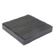 Anti vibration mount pad Square With ribbing 4 inch
