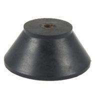 Round antivibration pads threading